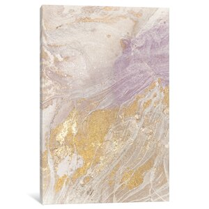 'Soft Shimmer IV' Painting Print on Canvas by East Urban Home