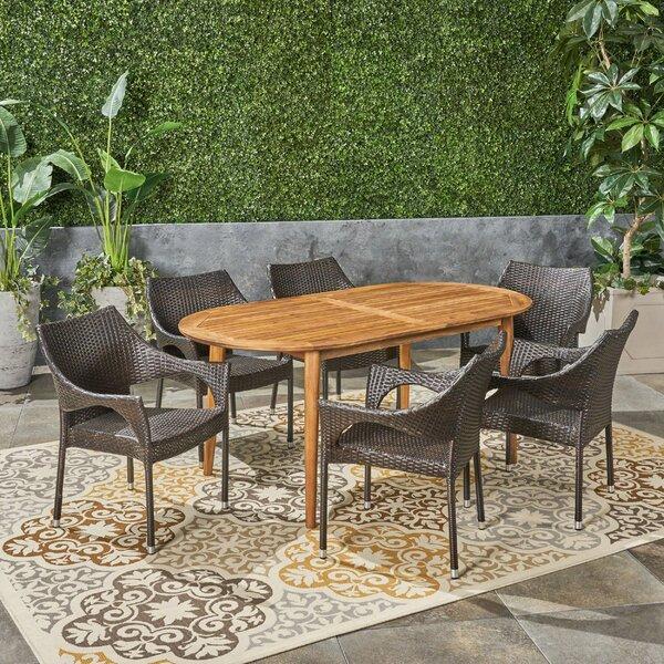 Kalvin Outdoor 7 Piece Dining Set by Ebern Designs