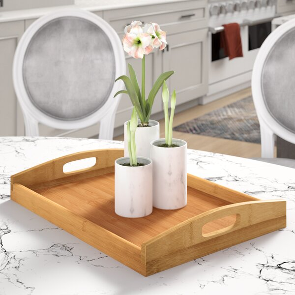 Traditional Rectangular Wood Serving Tray by Red Barrel Studio