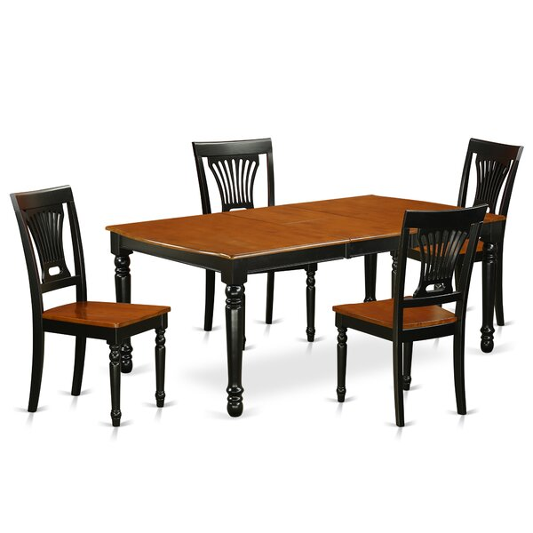 Pimentel 5 Piece Solid Wood Dining Set by August Grove