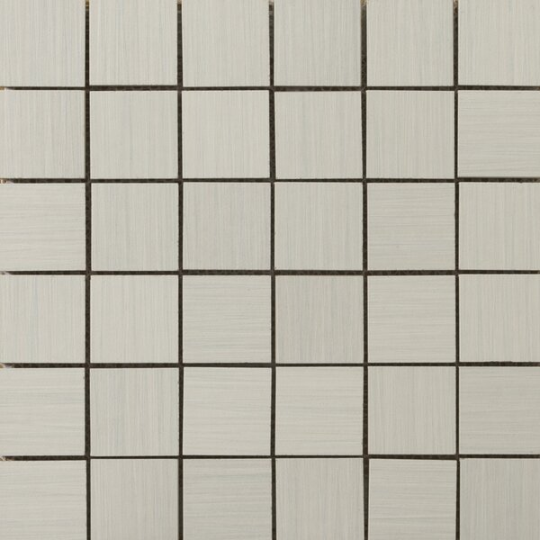 Strands 2 x 2/12 x 12 Porcelain Mosaic Tile in Pearl by Emser Tile