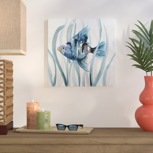 Fish In Seagrass Ii Oil Painting Print On Wrapped Canvas By Bay Isle Home.