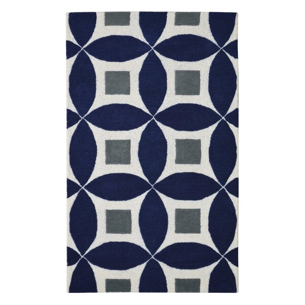 Henley Hand-Tufted Navy Blue/Gray Area Rug by Eastern Weavers