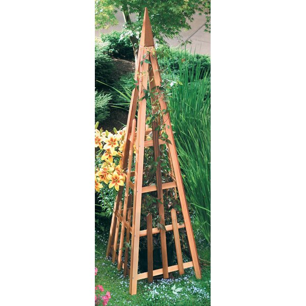 Pyramid Wood Obelisk Trellis by Arboria