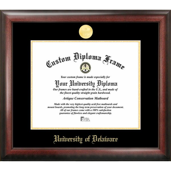 NCAA Gold Embossed Diploma Picture Frame by Campus Images