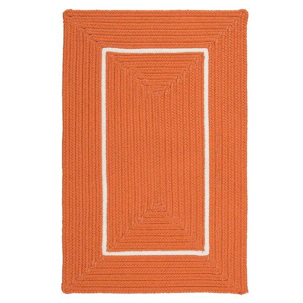 Doodle Edge Orange Border in Border Indoor/Outdoor Area Rug by Colonial Mills