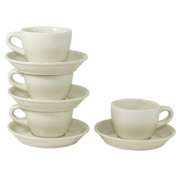 Buffalo Teacups and Saucers (Set of 4) by Oneida