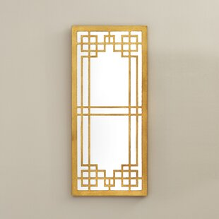 Willa Arlo Interiors Modern Gold Leaf Wall Mirror
