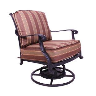 Islais Swivel Patio Chair with Sunbrella Cushions By Darby Home Co