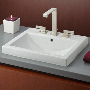 Price comparison Camilla Vitreous China Rectangular Drop-In Bathroom Sink with Overflow By Cheviot Products