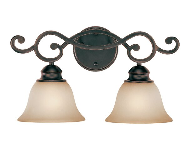 Charbonneau 2-Light Vanity Light by Fleur De Lis Living