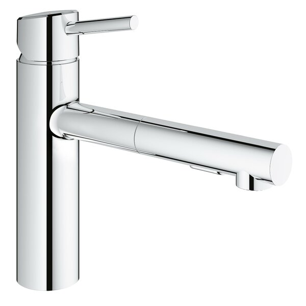 Concetto Single Handle Deck Mount Kitchen Faucet with Dual Spray Pull Out and SilkMove® by Grohe