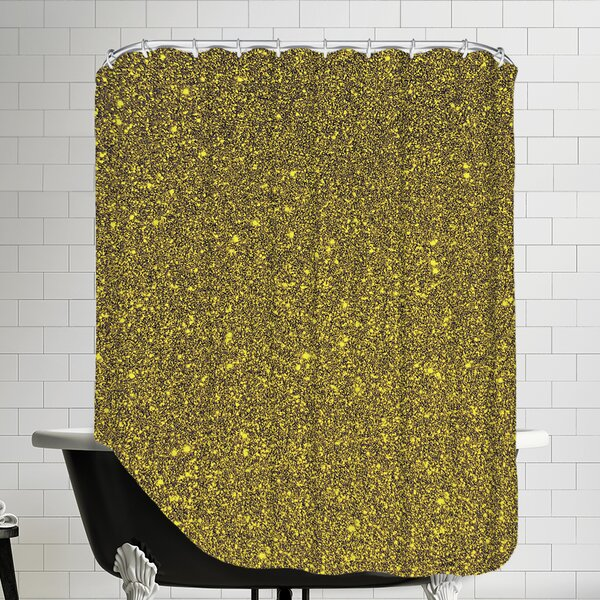 Luxury Shiny Polyester Shower Curtain by East Urban Home
