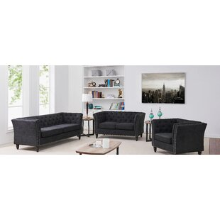 Clem 3 Piece Living Room Set by House of Hampton®