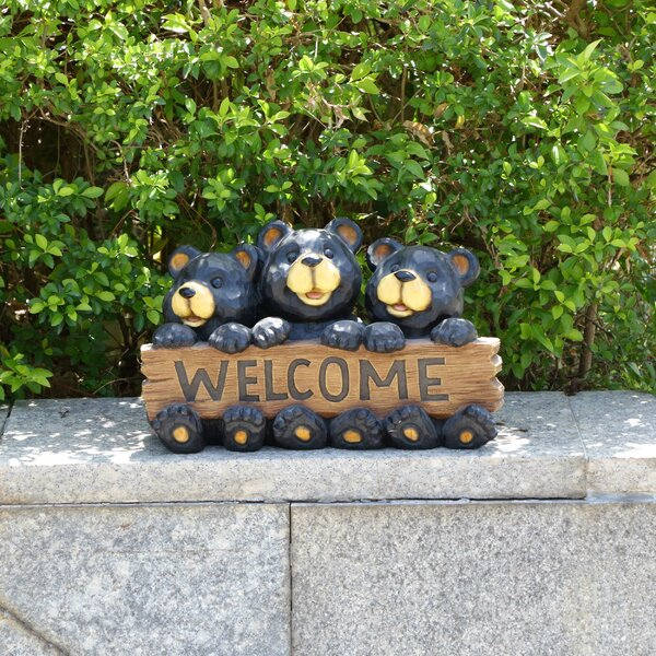 Sterner Bear Family Garden Sign by Millwood Pines