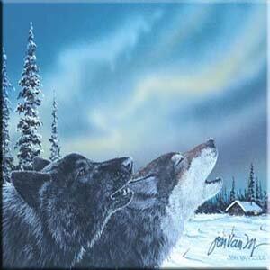 Tuftop Van Zyle Wolf Duet Trivet by McGowan