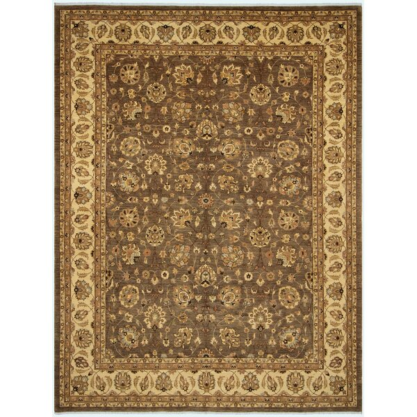 One-of-a-Kind Dorn Hand-Knotted Wool Brown/Ivory Area Rug by Isabelline