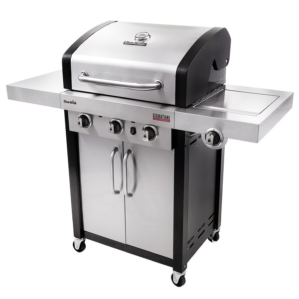 Signature TRU-InfraRed 3-Burner Propane Gas Grill with Cabinet by Char-Broil