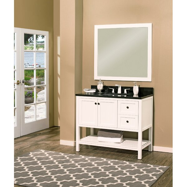 Hampton Bay 42 Single Bathroom Vanity with Mirror by NGY Stone & Cabinet
