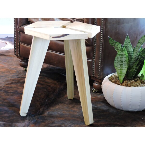 Zandra 3D Box Top Hardwood Accent Stool by Union Rustic