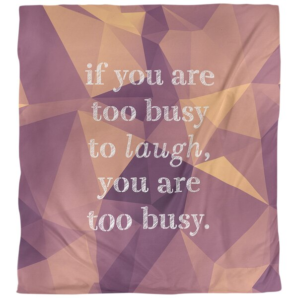 Quotes Faux Gemstone Make Time for Laughter Single Reversible Duvet Cover