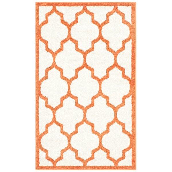 Maritza Beige/Orange Indoor/Outdoor Area Rug by Willa Arlo Interiors