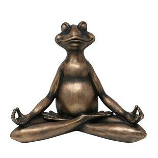 Charmant Modern Decorative Resin Yoga Frog Figurine