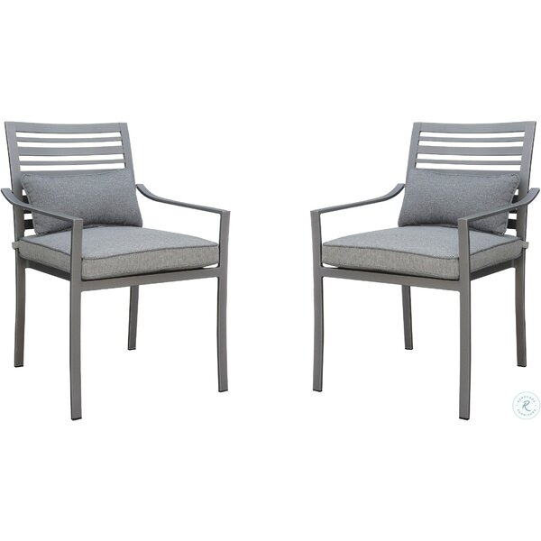 Peggie Patio Dining Chair with Cushion (Set of 4) by Brayden Studio