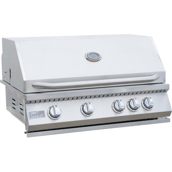 BBQ 4-Burner Built-In Convertible Gas Grill by Kokomo Grills