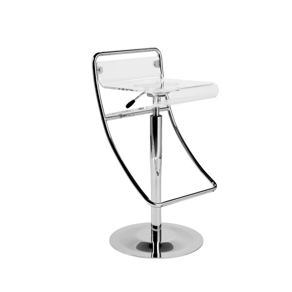 Twigg Adjustable Height Swivel Bar Stool by Wade Logan