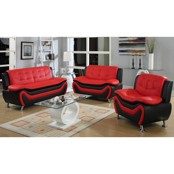 Sunray 3 Piece Living Room Set by Orren Ellis