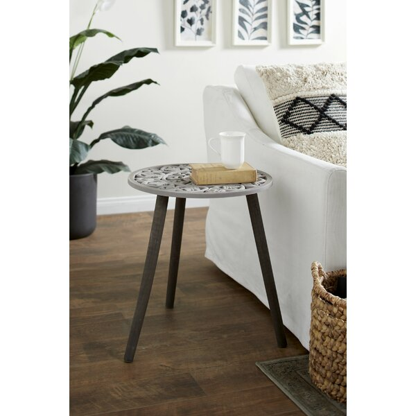Olaughlin End Table by Bungalow Rose Bungalow Rose