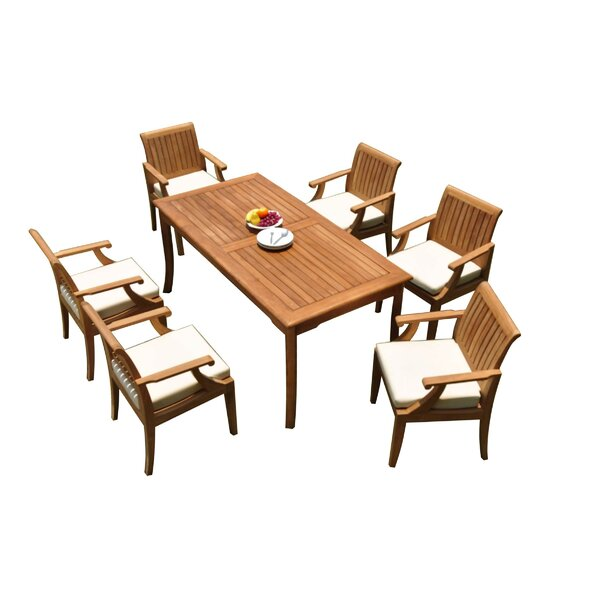 Brycen 7 Piece Teak Dining Set by Rosecliff Heights