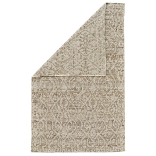 Reiber Hand-Woven Wool Natural/Ivory Area Rug by Bloomsbury Market