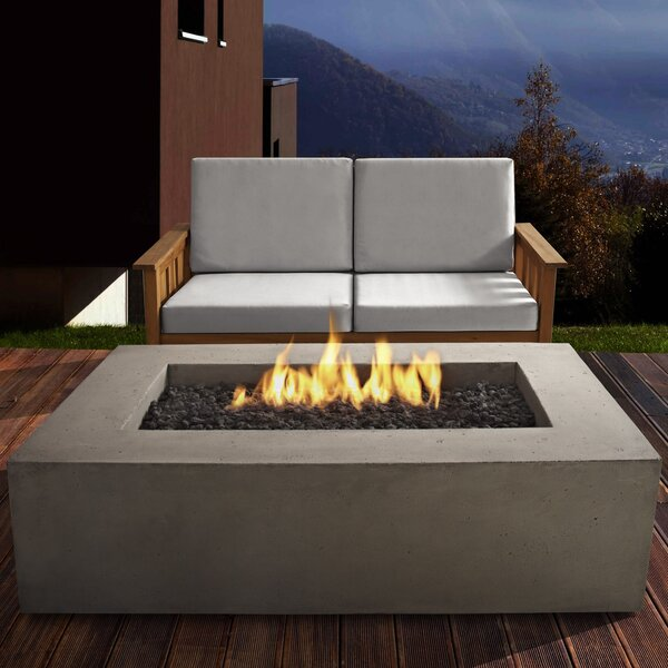 Baltic Concrete Propane Fire Pit Table by Real Fla