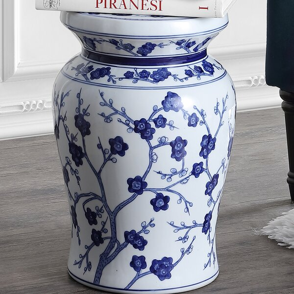 Wiese Cherry Blossom Ceramic Garden Stool by Charlton Home