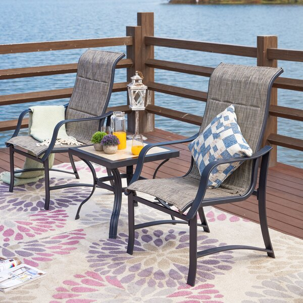 Strasser 3 Piece Seating Group by Charlton Home