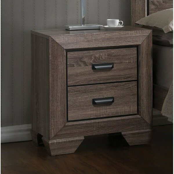 Gianna 2 Drawer Nightstand by Foundry Select