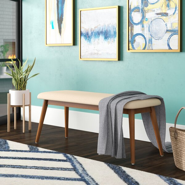 Caro Upholstered Bench by Modern Rustic Interiors