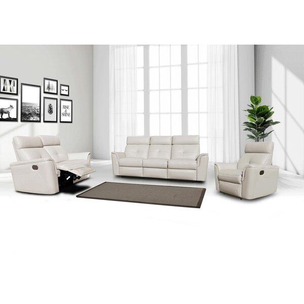 Rebekah 3 Piece Reclining Living Room Set by Orren Ellis