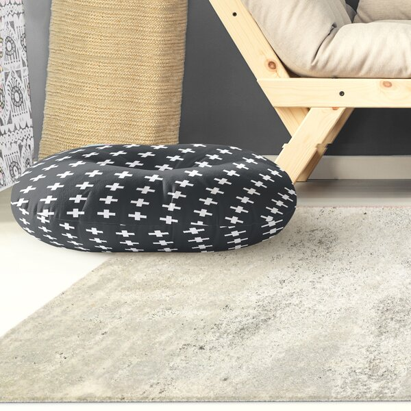 Emerie Cross Outdoor Floor Pillow by Corrigan Studio