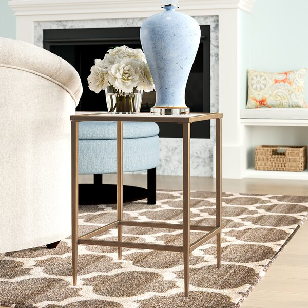 Review Nash Glass Top End Table
