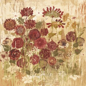 'Floral Frenzy Burgundy Vi' by Alan Hopfensperger Painting Print on Wrapped Canvas by Marmont Hill