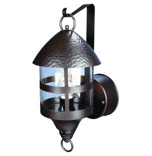 Check Prices Schaefer 1-Light Outdoor Sconce By Red Barrel Studio