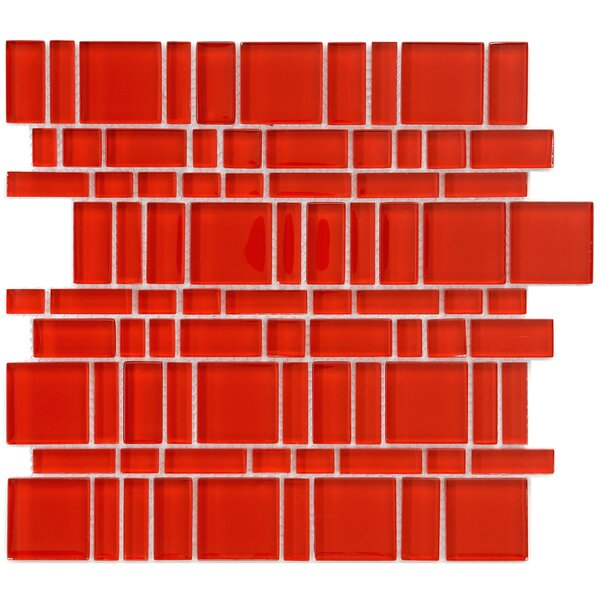 Sierra Random Sized Glass Mosaic Tile in Magic Carnelian by EliteTile