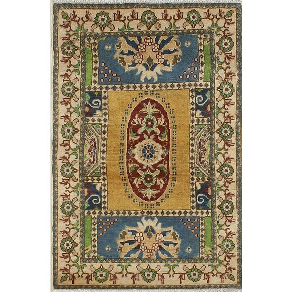 One-of-a-Kind Wendland Eugene Hand-Knotted Gold Area Rug by Loon Peak