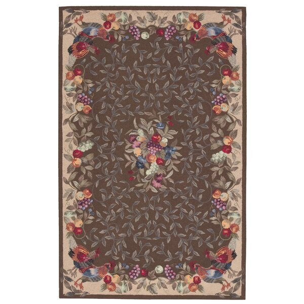 Kendall Hand-Hooked Khaki Area Rug by August Grove