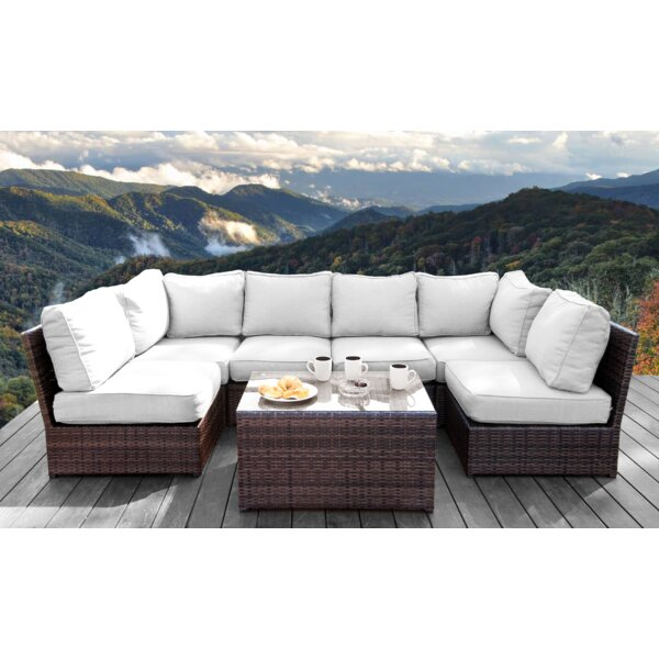 Grandstaff 7 Piece Sectional Seating Group with Cushions by Orren Ellis Orren Ellis