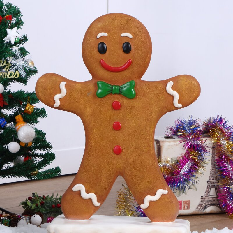 Gingerbread Boy Oversized Figurine