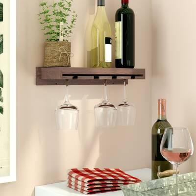 Erithon Wall Mounted Wine Gl Rack